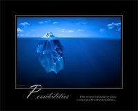 What we aspire to and what we achieve is only a tip of the iceberg in possibilities...