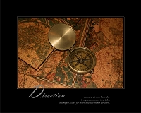 An accurate map has value to represent an area in detail…a compass allows for vision and determines direction.