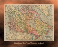 Boundary Map of 1898 Dominion of Canada