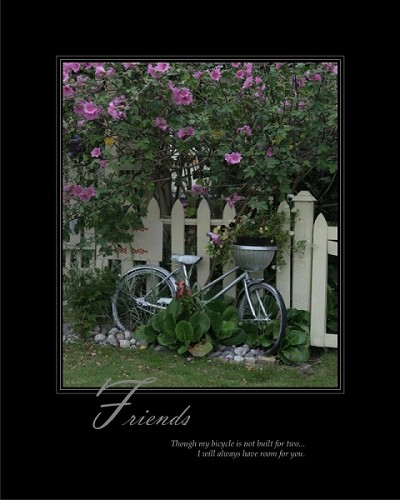 Though my bicycle is not built for two...I will always have room for you.